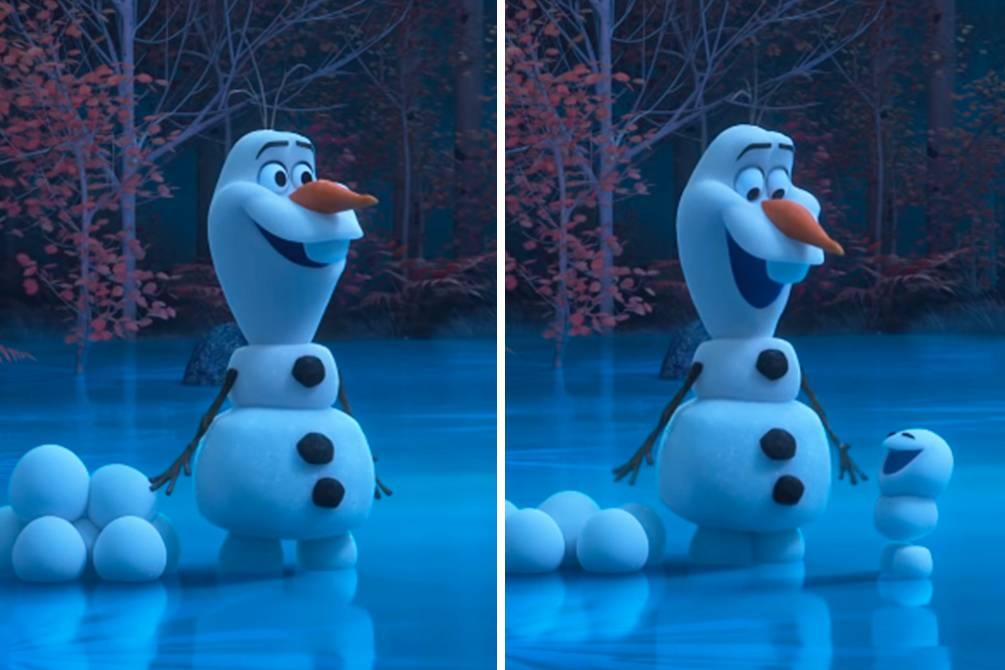 em casa com Olaf